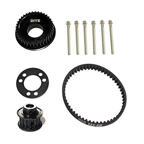 36 Teeth Drive Pulley Kit Flywheel Parts 12mm Belt Motor Gear Bolts Retainer DIY for 83mm 90mm 97mm 100mm Wheels Electric Skateboard