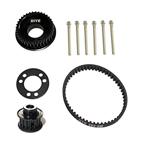 36 Teeth Drive Pulley Kit Flywheel Parts 12mm Belt Motor Gear Bolts Retainer DIY for 83mm 90mm 97mm 100mm Wheels Electric Skateboard