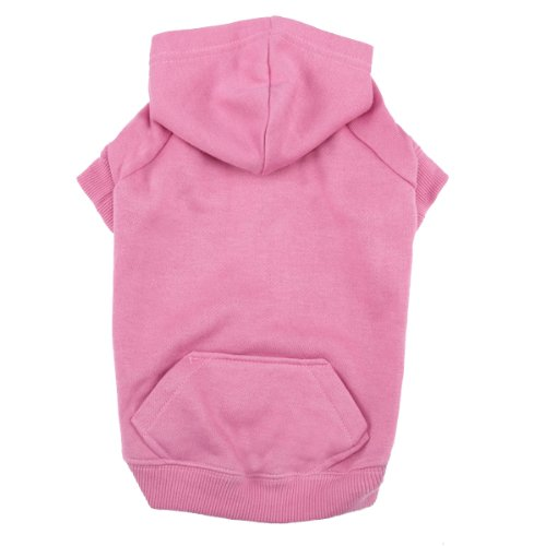 Casual Canine 16-Inch Cotton Basic Dog Hoodie, Medium, Pink, My Pet Supplies