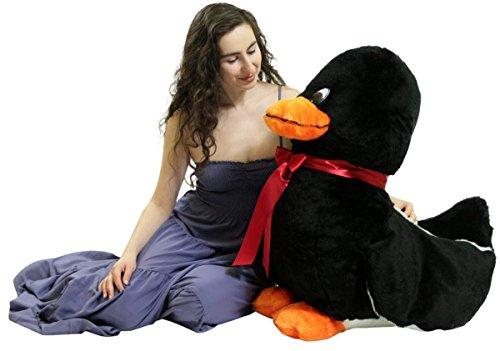 - American Made Giant Stuffed Black Duck 36 Inch Soft Plush Ducky 3 Feet Big
