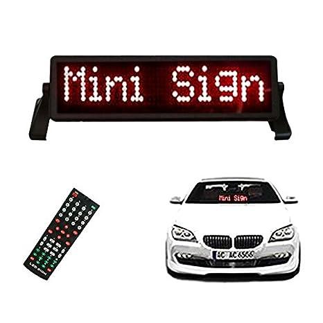 LED muestra de la placa de señal del coche LED muestra para ...