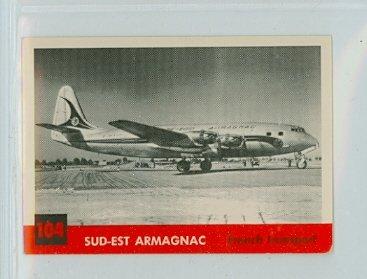 (1956 Topps Jets 104 Sud-Est Armagnac Excellent)
