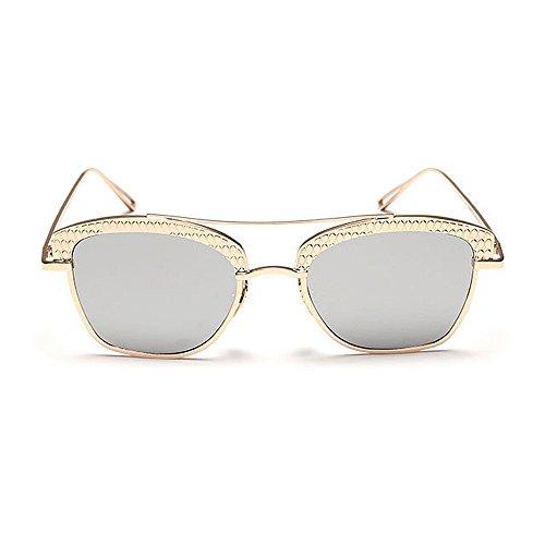 al Conducción Coloreada para Protección Montura Semi de Lente de Aire Gu Peggy C5 Mujeres C8 Color Libre Marco Metal viaja sin Gafas Sol Que UV Personalidad wzTcqU