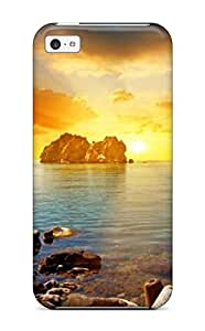 Fashion Protective Beach Sunset Case Cover For Iphone 5c
