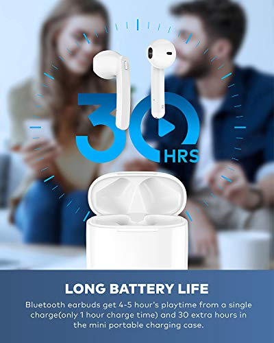 Beben Bluetooth 50 True Wireless Earbuds with Charging Case for iPhone Android 5H Continuous 30H