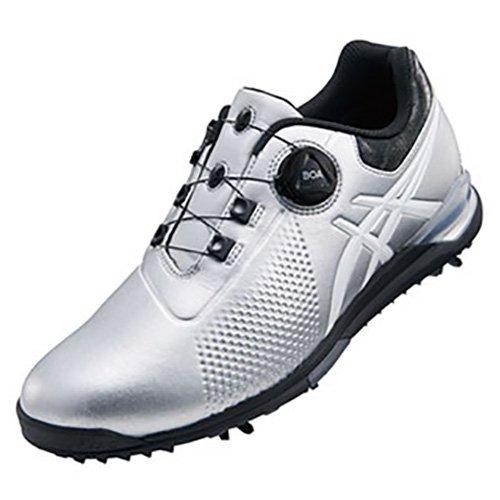 3  シルバー/ホワイト ゴルフシューズ メンズ ゲルエース 9301  B079NQKJVY asics(アシックス) ツアー ボア 25.0cm TGN923