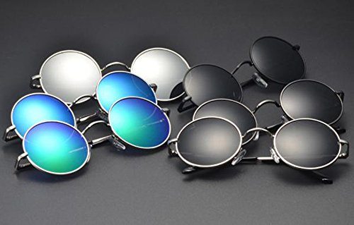 Gris soleil femmes Argent lunettes Lunettes Vintage polarisées hommes de de Huateng soleil pour et UV400 6apO8