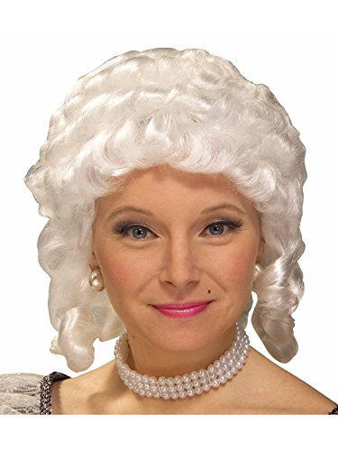 Forum Novelties Women's Colonial Adult Wig (White)]()
