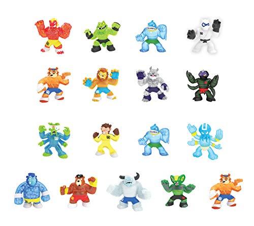 Heroes of Goo Jit Zu - 2 Pack of Glow in The Dark Action Figures, Thrash Vs Rockjaw