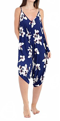 White Navy Jumpsuit Lily Woman 21fashion Sleeveless Print Blue SfvqXqx7w