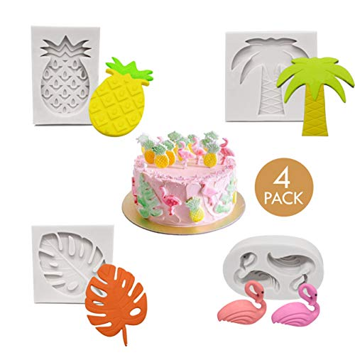 Set of 4-Tropical Theme Cake Fondant Mold, Flamingo