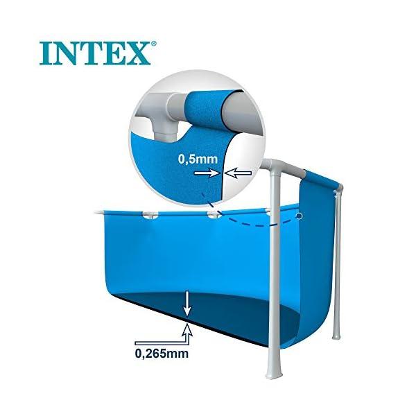 Intex 55242 – Piscina desmontable redonda, Metal Frame, medidas diámetro 244×51 cm, 1.828 litros, lona azul, piscina infantil