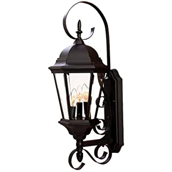 acclaim 5413bk new orleans collection 3light wall mount outdoor light fixture matte black