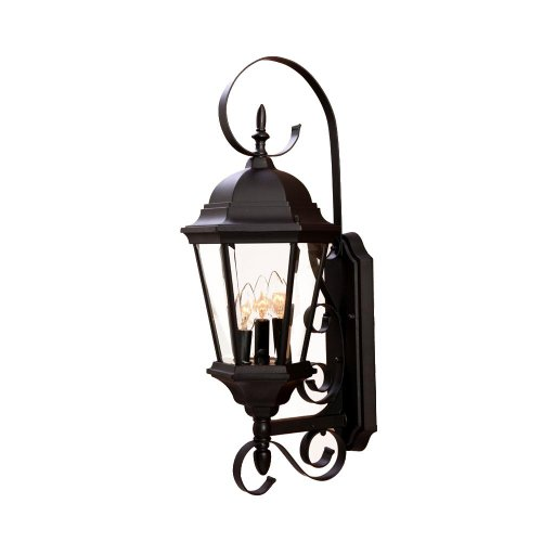 Fixtures Lighting Outdoor Collection (Acclaim 5413BK New Orleans Collection 3-Light Wall Mount Outdoor Light Fixture, Matte Black)