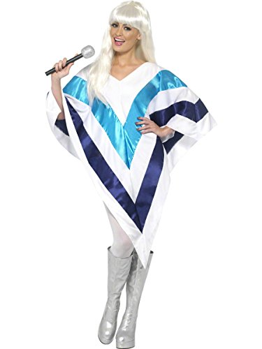 Ladies Disco Queen Cape Poncho 1970s 70s Decades Pop Star Singer Famous Celebrity Fancy Dress Costume Outfit (One Size)
