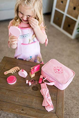 Little Adventures Little Beauty Salon Beautician Wooden Toy Set with Carrying Case Pink by Little Adventures (Image #4)