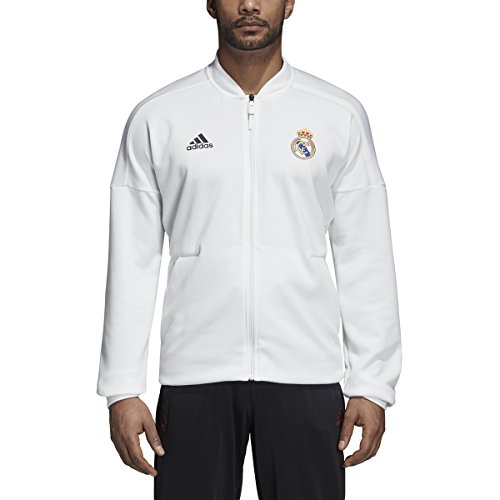 Jacket Core Track (adidas Men's Real Madrid 3-Stripes Track Jacket (Small) Core White)