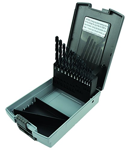 Morse Cutting Tools 18148 Jobber Length Drill Set, High-Speed Steel, Bright Finish, Fractional Size, 13-pieces ()
