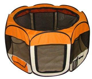 Orange Pet Dog Tent Puppy Playpen Exercise Pen Kennel