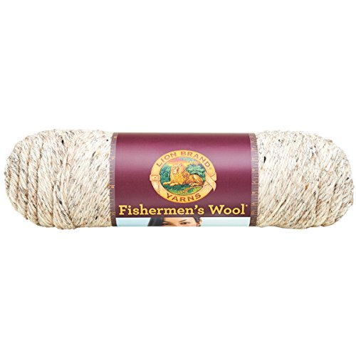 Lion Brand Yarn 150-202 Fishermen's Wool Yarn, Birch Tweed