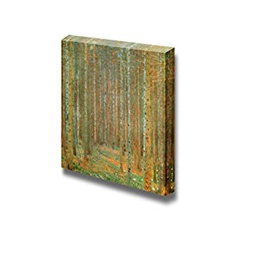 Pretty Craft, Premium Creation, Tannenwald (Pine Forest) by Gustav Klimt Famous Fine Art Reproduction World Famous Painting Replica on Print Wood Framed