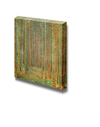 Tannenwald (Pine Forest) by Gustav Klimt Famous Fine Art Reproduction World Famous Painting Replica on ped Print Wood Framed