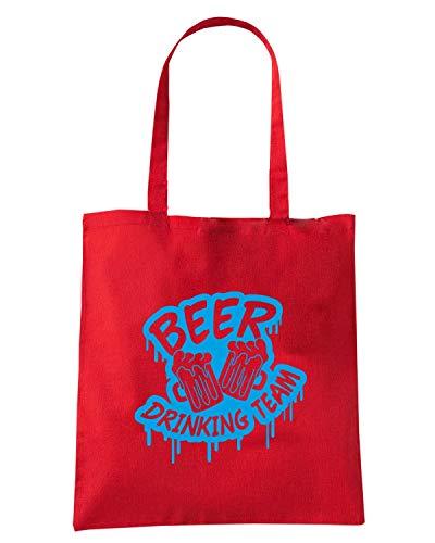 Shirt TEAM Rossa DRINKING Borsa BEER0036 BEER Shopper Speed UnHfOw8qH