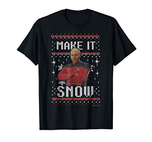 - Star Trek Next Generation Make It Snow Graphic T-Shirt