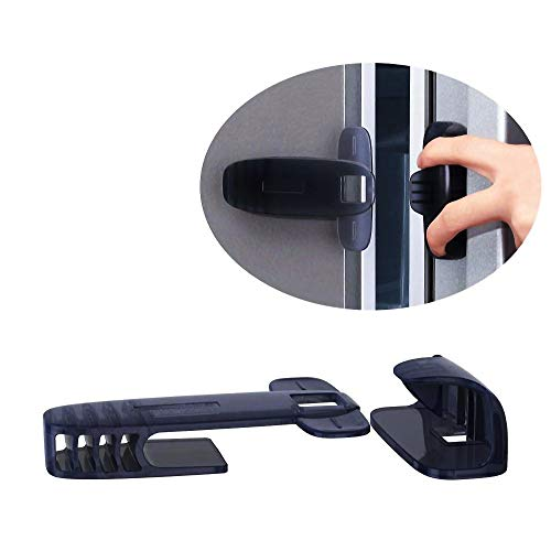 QT BABY Freezer Lock Latch | Fridge Lock for Kids, Toddler, Children, with More Security and Heavy Duty, Child Proof Refrigerator Door Lock is Easy to Install and 3M Adhesive - 1 Pack