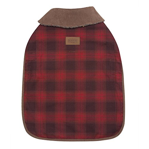 Dog Coat Faux Suede (Carolina Pet Pendleton Red Ombre Dog Coat Medium)
