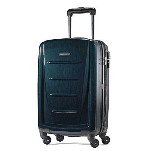 Samsonite Winfield 2 Hardside Expandable Luggage with Spinner Wheels, Teal, Checked-Large 28-Inch