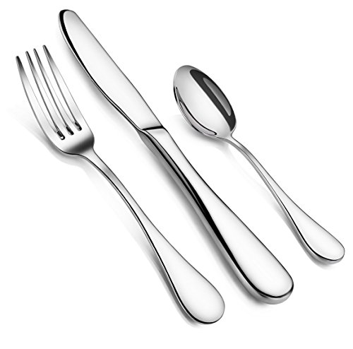 Artaste 59380 Rain 18/10 Stainless Steel Flatware 36-Piece set, Service of 12 ()
