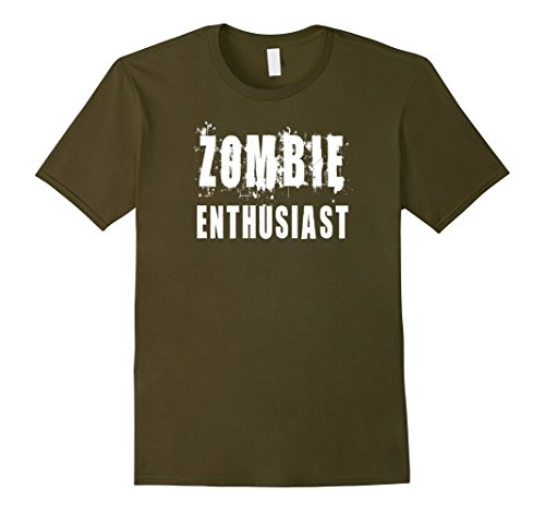 Mens Zombie Enthusiast: Funny Apocalypse T-Shirt Small (Doomsday Preppers Halloween Costume)