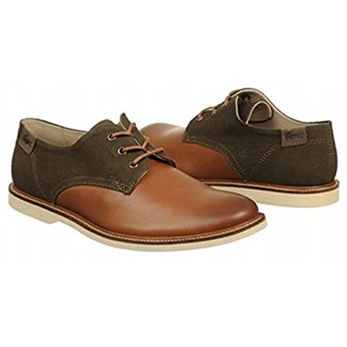 b29795cbd401c3 Lacoste Men s Sherbrooke 7 Oxford Size US 7 Dark Tan best ...