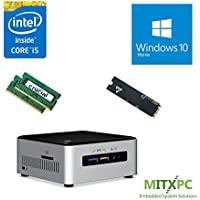 Intel BOXNUC6i5SYH Core i5-6260U NUC Mini PC w/ 32GB, 256GB M.2 SSD, Windows 10 Home - Configured and Assembled by MITXPC