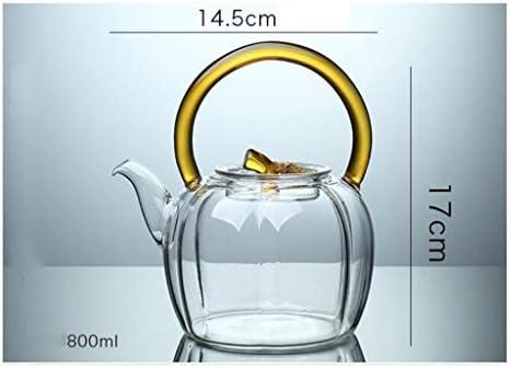 SSRS Glazen theepot, hittebestendige balken, waterkoker, thee, thee