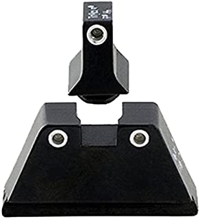 product image for Trijicon Glock Suppressor Night Sight Set, White Front/White Rear with Green Front Lamp & Orange Rear Lamps