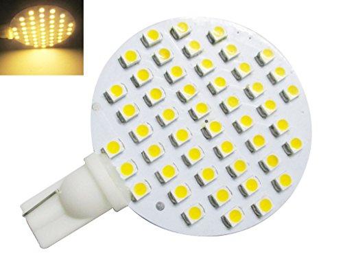 GRV T10 921 194 48-3528 SMD Wedge LED Bulb lamp Super Bright AC/DC 12V Pack of 10 (Warm White)