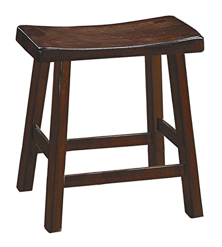 Homelegance 5302C-18 Saddleback 18-Inch Height Barstool, Cherry, Set of 2 by Homelegance