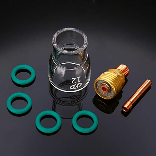 (Ants-Store - 7pcs Practical Pyrex Welding Cup Welding Torch Stubby Gas Lens #12 Glass Pyrex Cup TIG Welding Kit For WP-9/WP-20/WP-25)