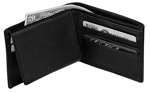 Winn International Cowhide Napa Leather Pass Case Wallet in Black Winn Slim Wallet