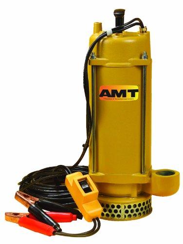 AMT Pump 5890-DC Submersible Pump, Aluminum, 1/3 HP, 12V, 1-1/2″ NPT Female Discharge Port