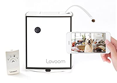 Lovoom Pet Monitoring Camera: Kibble Tossing Play, Wi-Fi Camera with Pan Zoom Two Way Audio Remote Control for Dogs and Cats by HODU Co.,Ltd