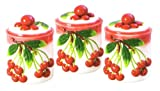 CHERRY 3-D Canister Set of 3 Canisters Cherries *NEW!*