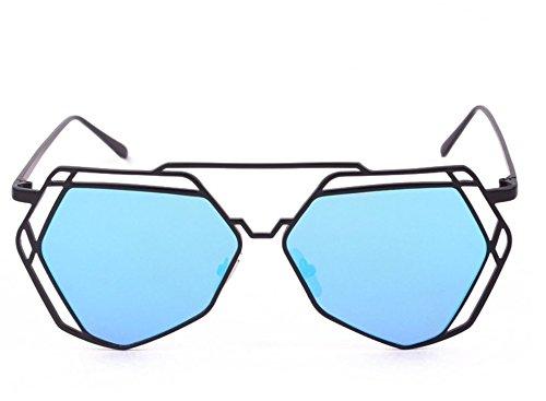 Gafas De Sol De De De JUNHONGZHANG De Gafas C Metal Decorativas Geométricas Sol Sol Gafas Gafas Hueco De De Irregulares mi Polígonos Recorte Mujer wqXOtUt