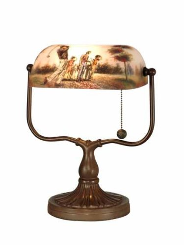 Dale Tiffany 10164/417 Golf Handale Accent Lamp, Antique Bronze