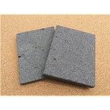 【イワタニ 炉ばた大将 炙家シリーズ】の大きさに合わせて溶岩プレートを加工しました! 3枚セット!13センチ×17センチ! 穴が少ない高級溶岩だけを使用しています♪ 価格で勝負の切削仕上げ!