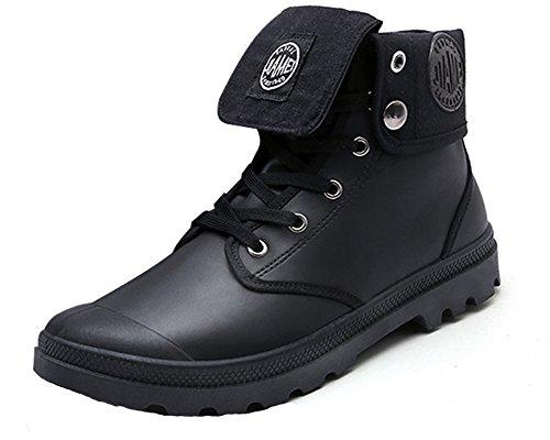 deslizante Botas Otoño Anti Hombre Invierno Lazada Invierno Martin Negro Botines Retro Botas B Boots Zapatos Nieve Minetom de Moda 8xqwxO