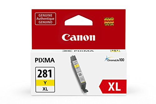 Inks Yellow Ink Tank - Canon CLI-281XL Yellow Ink Tank, Compatible to TR8520,TR7520,TS9120,TS8120 and TS6120 Printers