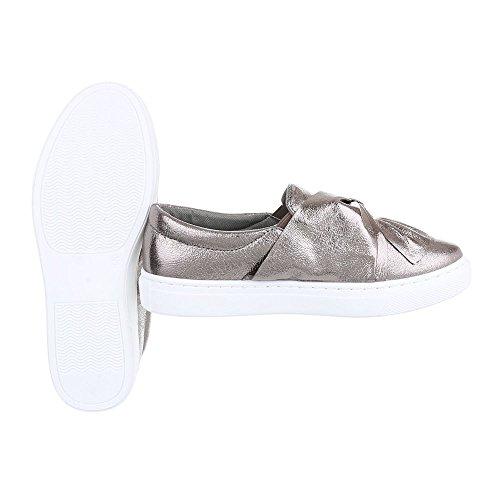 Ital-Design - Tobillo bajo Mujer Silber Grau 6677-P